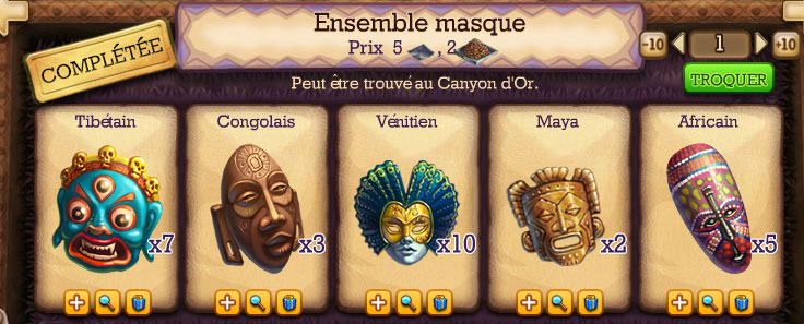 collection masque