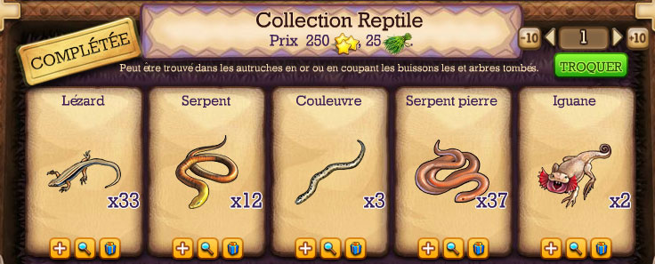 collection reptile