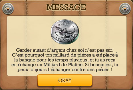 milliard de platine  - message