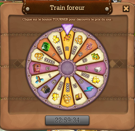 roulette train foreur